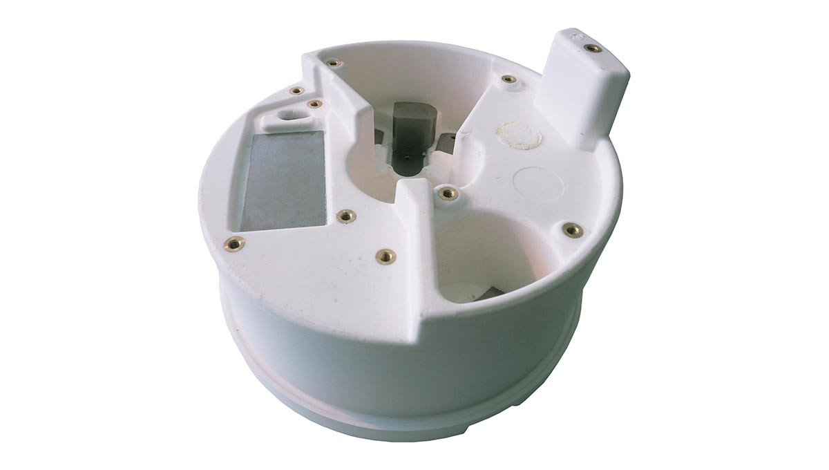Multiple material turret component